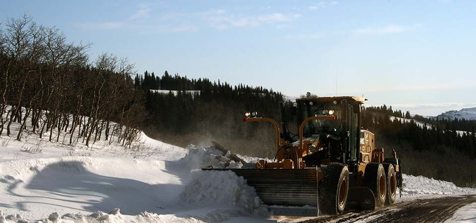 Bulldozer Snow Plow