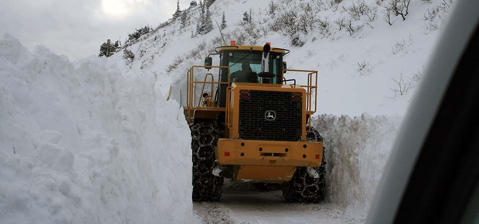 Plow Clearing Road